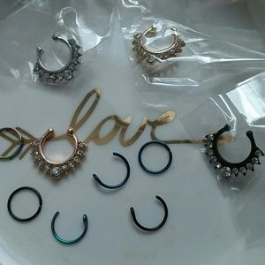 Jewelry - Faux nose rings new